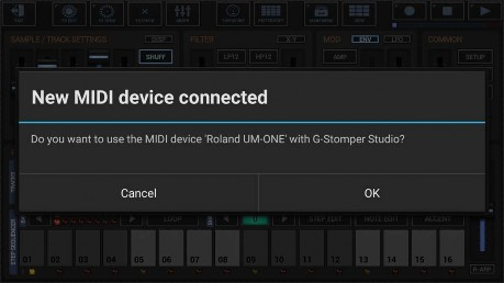 24 2 3 Connect MIDI Hardware over USB (G-Stomper as Host