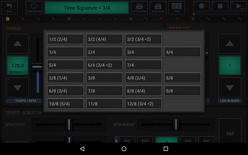 G-Stomper Studio 5.7 - Time Signature Wizard